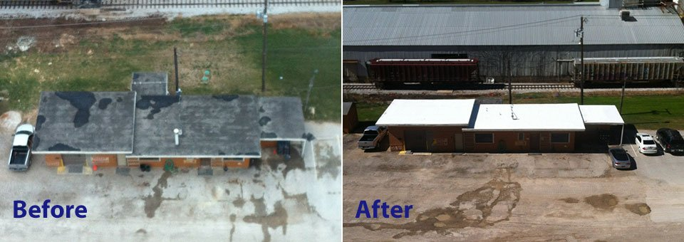 Tarrant County Roofing TPO Before/After