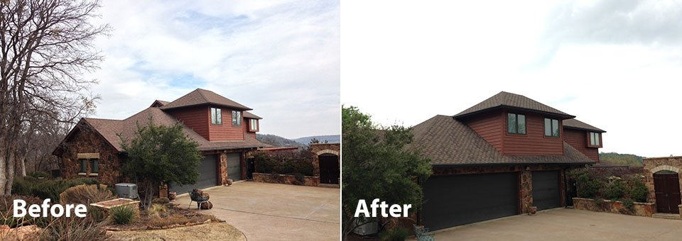 Tarrant County Roofing Composition Roofs Before/After