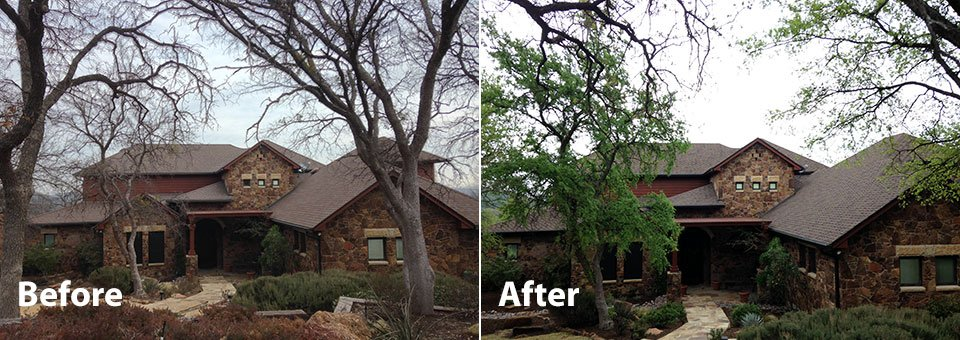 Before And After Roofing Portfolio Tarrant County Roofing